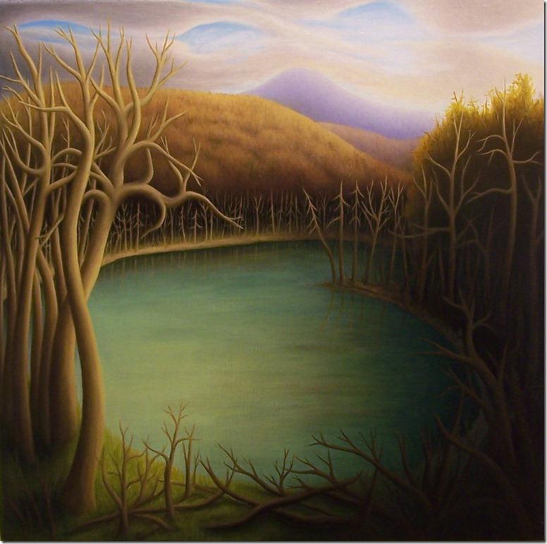 Lake-dead trees